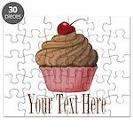 Pink Brown Cupcake Puzzle