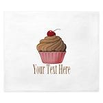 Pink Brown Cupcake King Duvet