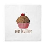 Pink Brown Cupcake Queen Duvet