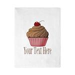 Pink Brown Cupcake Twin Duvet
