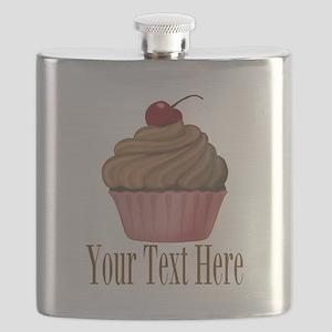 Pink Brown Cupcake Flask