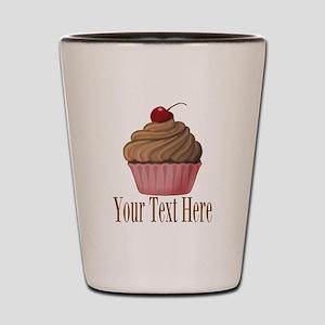 Pink Brown Cupcake Shot Glass