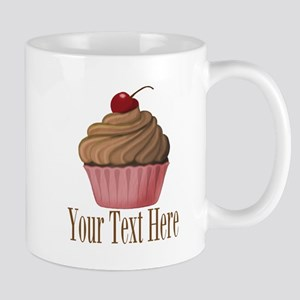 Pink Brown Cupcake Mugs