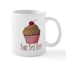 Pink Brown Cupcake Mugs