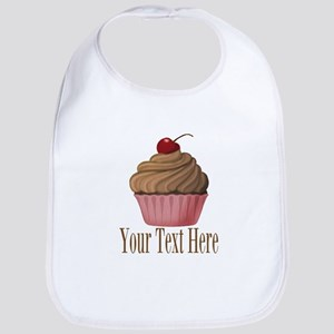 Pink Brown Cupcake Bib