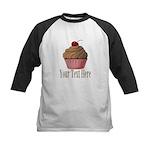 Pink Brown Cupcake Baseball Jersey