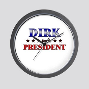 DIRK for president Wall Clock