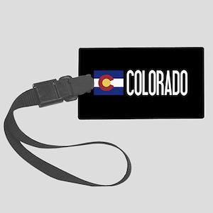 Colorado: Coloradan Flag & Color Large Luggage Tag