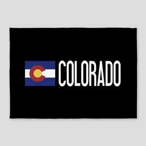 Colorado: Coloradan Flag & Colorado 5'x7'Area Rug