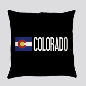 Colorado: Coloradan Flag & Colorad Everyday Pillow