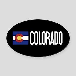 Colorado: Coloradan Flag & Colorad Oval Car Magnet