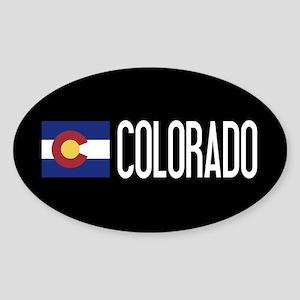 Colorado: Coloradan Flag & Colorado Sticker (Oval)