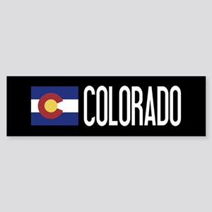Colorado: Coloradan Flag & Colora Sticker (Bumper)