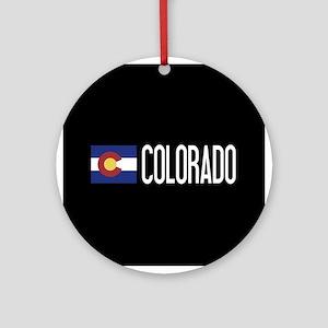 Colorado: Coloradan Flag & Colorado Round Ornament
