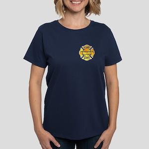 Firefighters Girlfriend Women's Dark T-Shirt