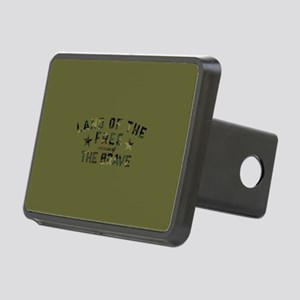Land of the Free Brave Rectangular Hitch Cover