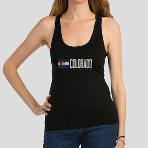 Colorado: Coloradan Flag & Colo Racerback Tank Top