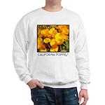 california poppies + wildflowers Sweatshirt