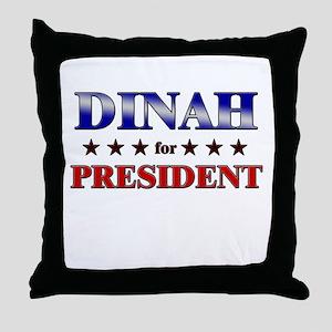 DINAH for president Throw Pillow
