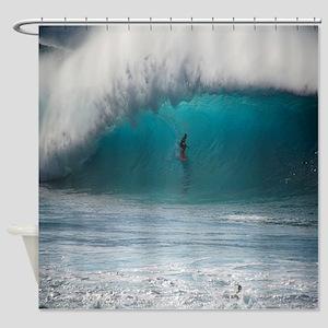Pipeline Barrel Hawaii Tropical Shower Curtain