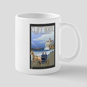 San Francisco, California - Cliff House Mugs
