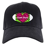Pink Green Zebra Stripes Baseball Hat