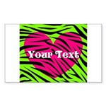 Pink Green Zebra Stripes Sticker