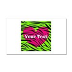 Pink Green Zebra Stripes Car Magnet 20 x 12