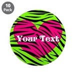 Pink Green Zebra Stripes 3.5