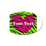 Pink Green Zebra Stripes Wall Decal