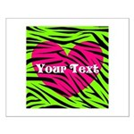 Pink Green Zebra Stripes Posters