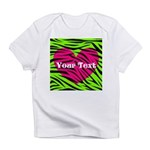 Pink Green Zebra Stripes Infant T-Shirt