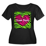 Pink Green Zebra Stripes Plus Size T-Shirt