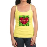 Pink Green Zebra Stripes Tank Top