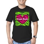 Pink Green Zebra Stripes T-Shirt