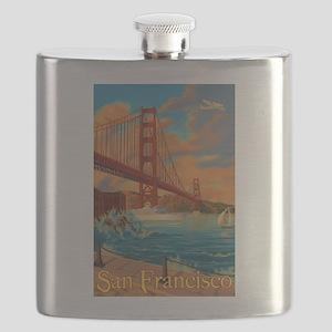 San Francisco, California - Golden Gate Bridge Fla