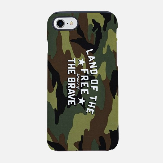 Land of the Free Brave iPhone 8/7 Tough Case