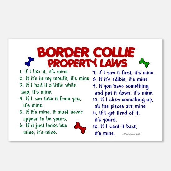 Border Collie Property Laws 2 Postcards (Package o