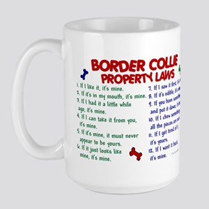Border Collie Property Laws 2 Large Mug