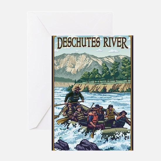 Bend, Oregon - Deschutes River Rafting Greeting Ca