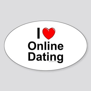 Online Dating Sticker (Oval)