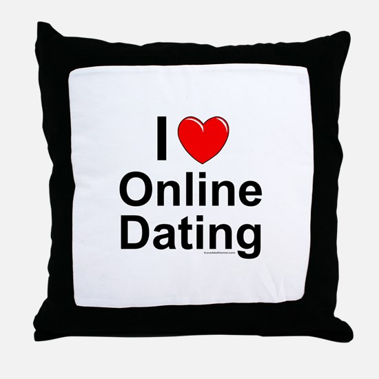 Online Dating Throw Pillow