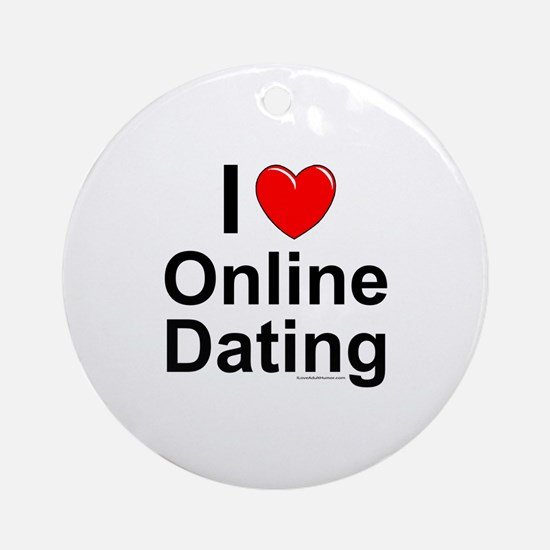 Online Dating Round Ornament