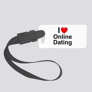 Online Dating Small Luggage Tag