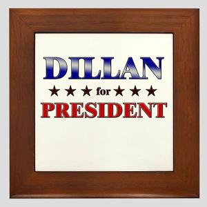 DILLAN for president Framed Tile