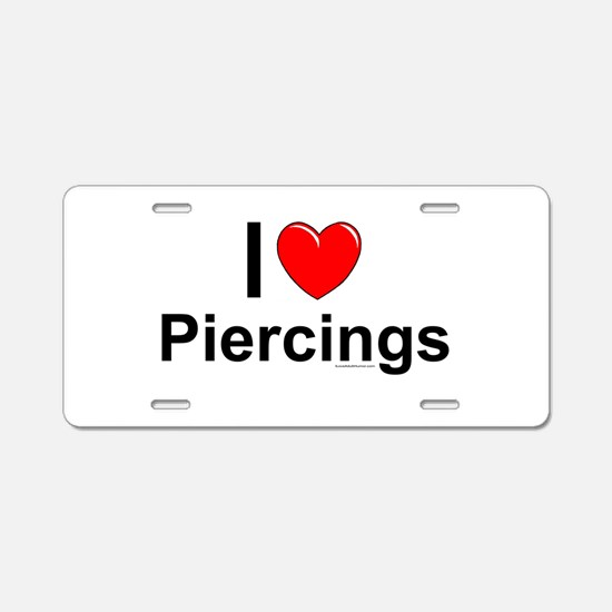 Piercings Aluminum License Plate