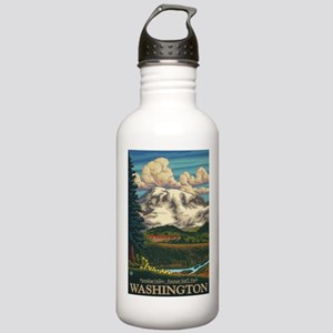 Mt Rainier, Washington - Paradise Inn Water Bottle