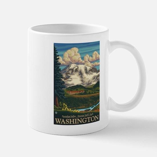 Mt Rainier, Washington - Paradise Inn Mugs