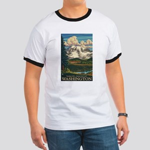Mt Rainier, Washington - Paradise Inn T-Shirt