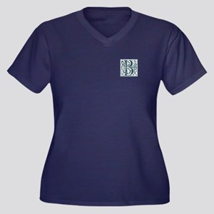 Monogram - Baird Women's Plus Size V-Neck Dark T-S